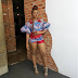 YEMI ALADE LOOKS SEXY IN ANKARA PRINT DRESS AS SHE SHOWS OFF HER LEGS (PHOTOS)