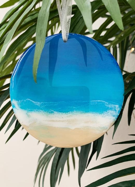 Resin Art Ocean Wave Ornaments