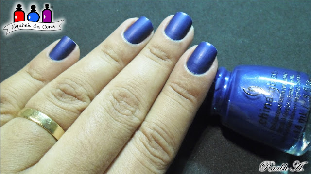 Unhas, Azul, China Glaze Combat Blue T's, Rebel Collection 2016, Matte, Royal Blue, Azul Royal, Satin, Fosco, Holográfico, El Corazón Charoite, Gemstones Collection