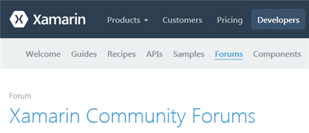 https://forums.xamarin.com/