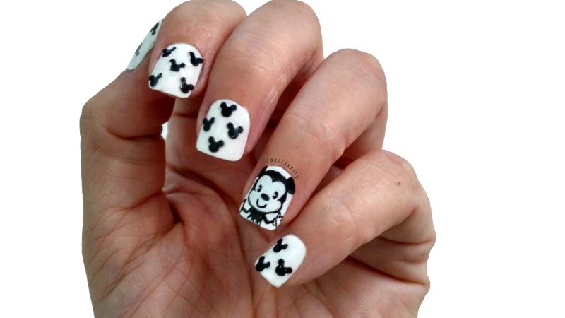 Nail art fácil de Mickey   #RetoColoresCosasDeChicasVol4 - Toxic Vanity