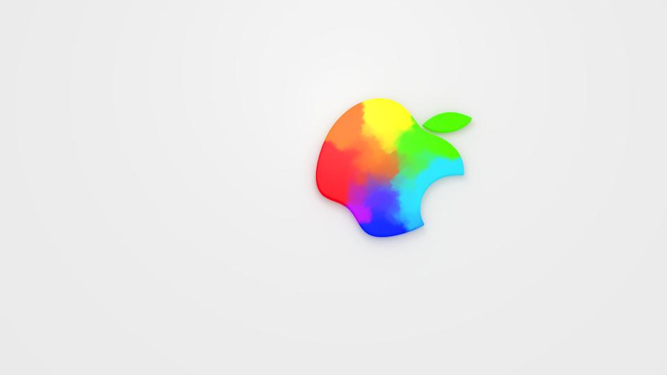 VFX / New Apple Logo Watercolor Blend | Blender Sushi