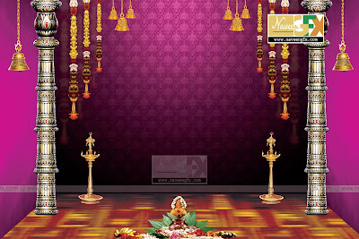 Vinayaka Chavithi Stage Backdrop Idea Template Naveengfx