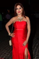 Sejal Jen Shah in Strapless Sleeveless Deep neck Red Gown at 64th Jio Filmfare Awards South ~  Exclusive 001.JPG