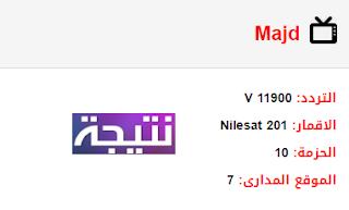 تردد قناة المجد Majd الجديد 2018 على النايل سات