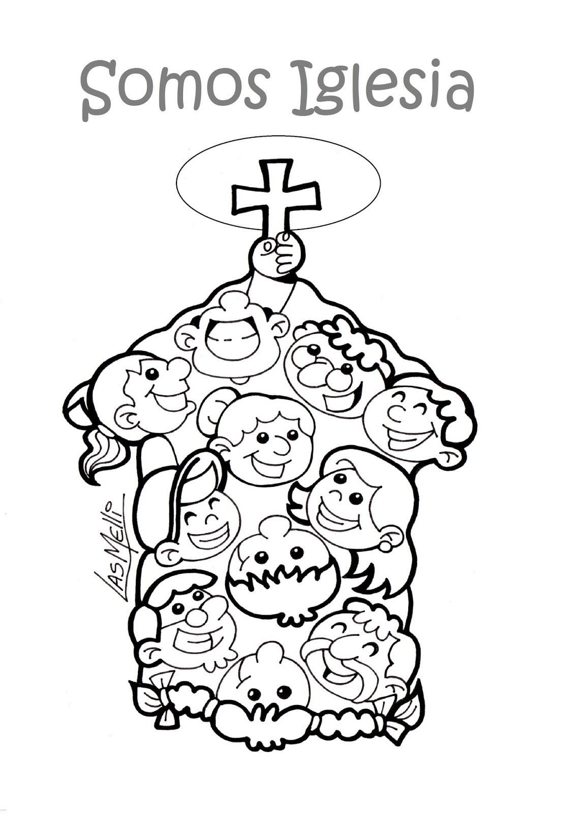 El Rincón de las Melli: DIBUJO: Somos Iglesia