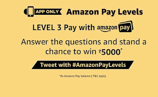 (All Answers)Amazon Pay Level : Answer & Win 5000 Rs