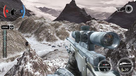 mountain sniper shooting war mod apk