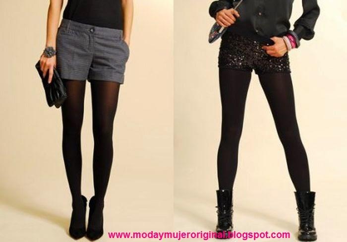 short de vestir o sport casual con medias negras