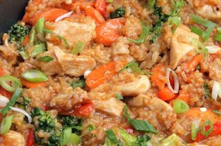 Курица с рисом в соусе терияки