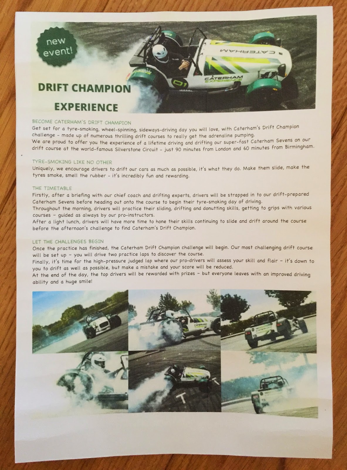 A Caterham Drift Experience!!!!  Cool or what?!?