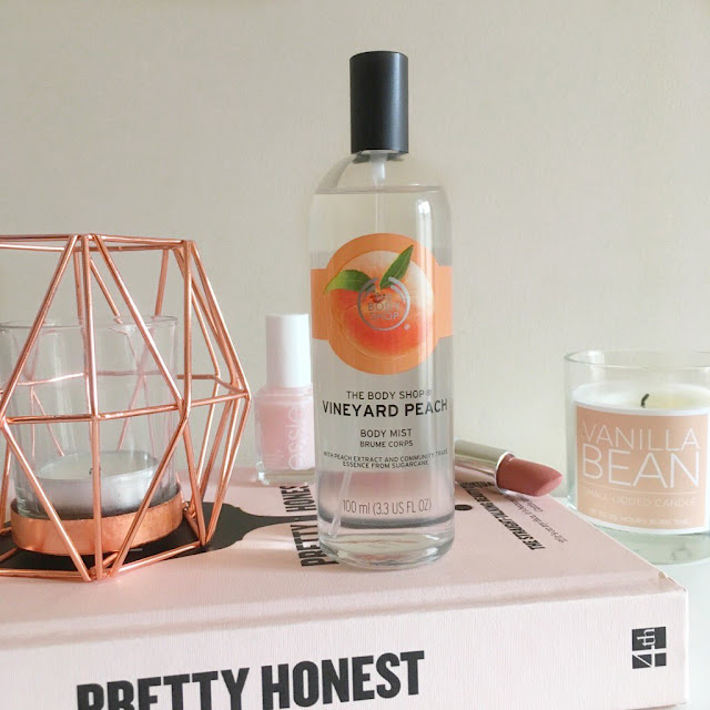 the body shop peach mist