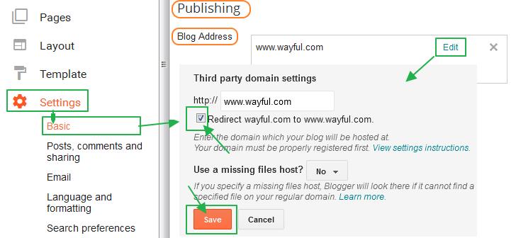 구글블로그 사용법: 써드 파티 도메인 (2차 도메인) 리다이렉팅 설정이 풀리는 현상