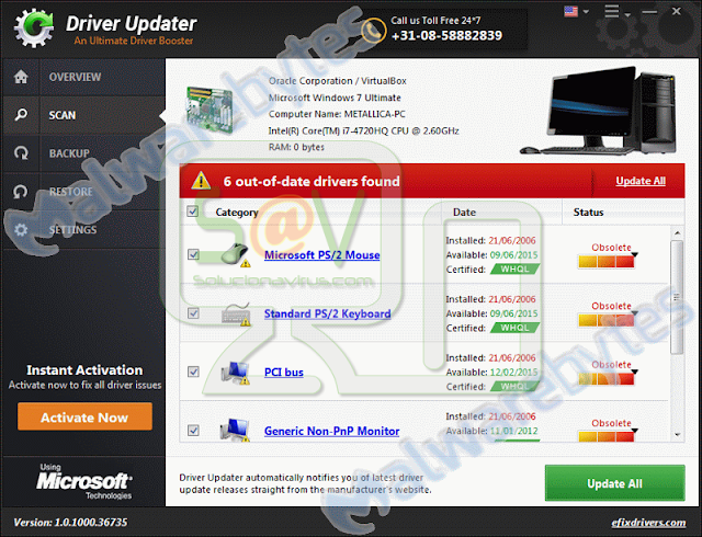 Driver Updater (Falso optimizador)