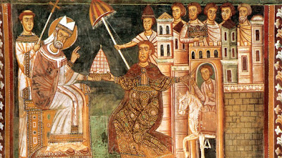 St. Sylvester I and Constantine