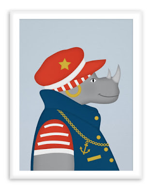 Nautical Poster Sailor Rhino