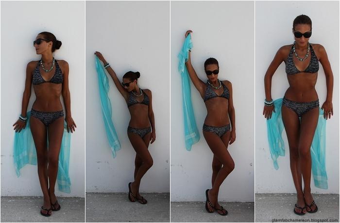 dark tan fit and lean summer bikini body fitness inspiration