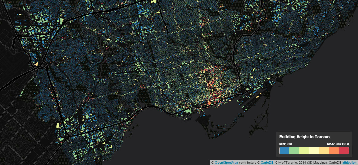 The Toronto height map