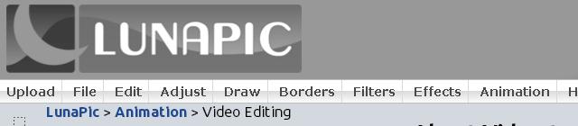 LunaPic Video Editing