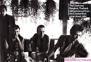 Another photo of the band taking a break in Bangkok  by  Pennie Smith
