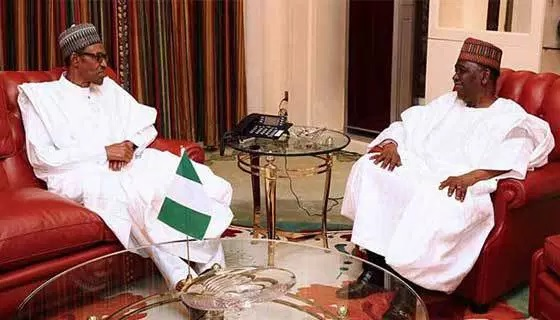 Buhari Meets With Gowon
