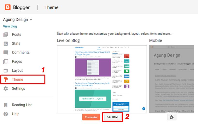 Menambahkan Gadget Blogger