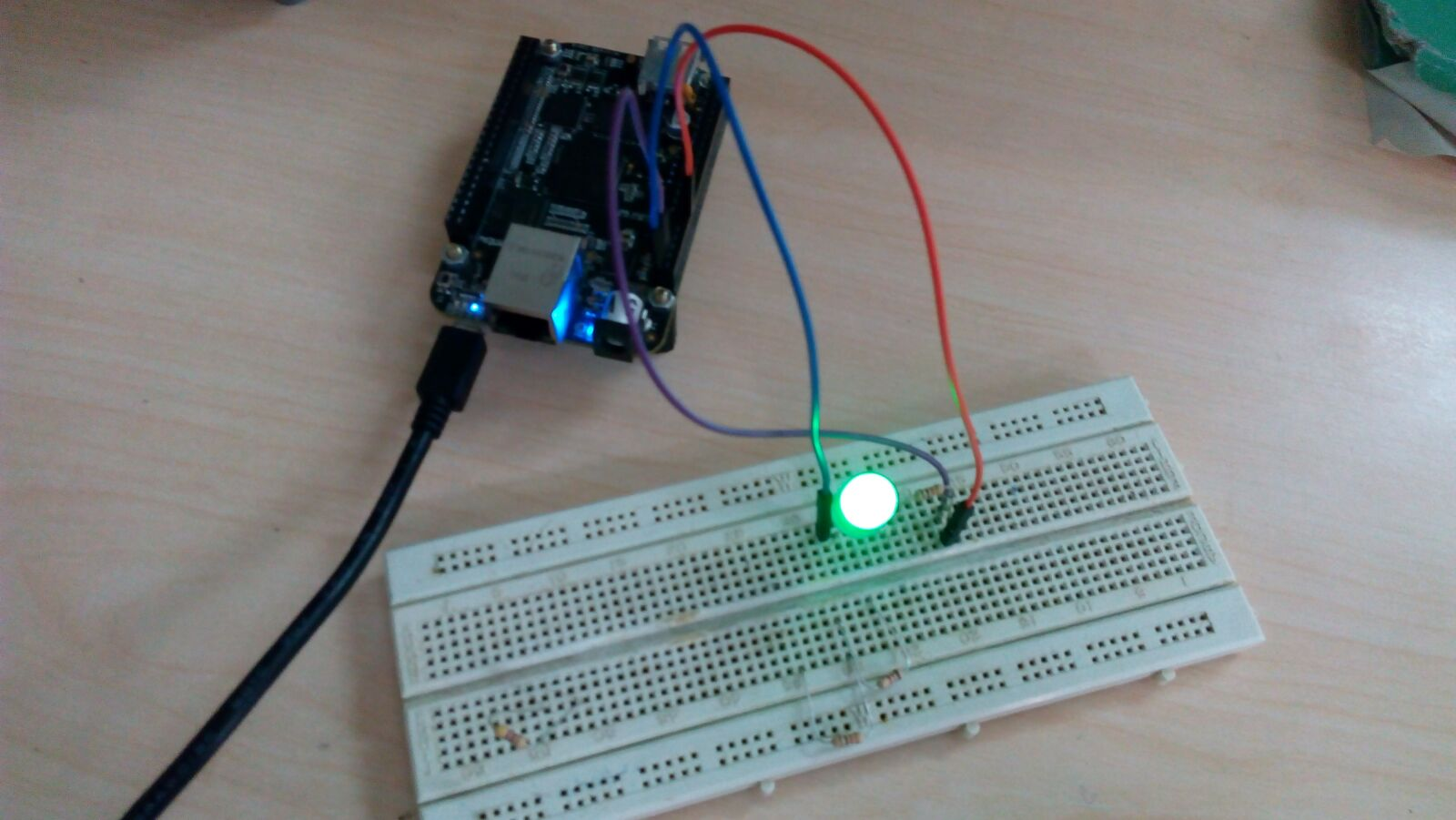 Embedded Designing How To Interface Led With Bbb Using Python Circuit Designer Hardware Setup Of Interfacing