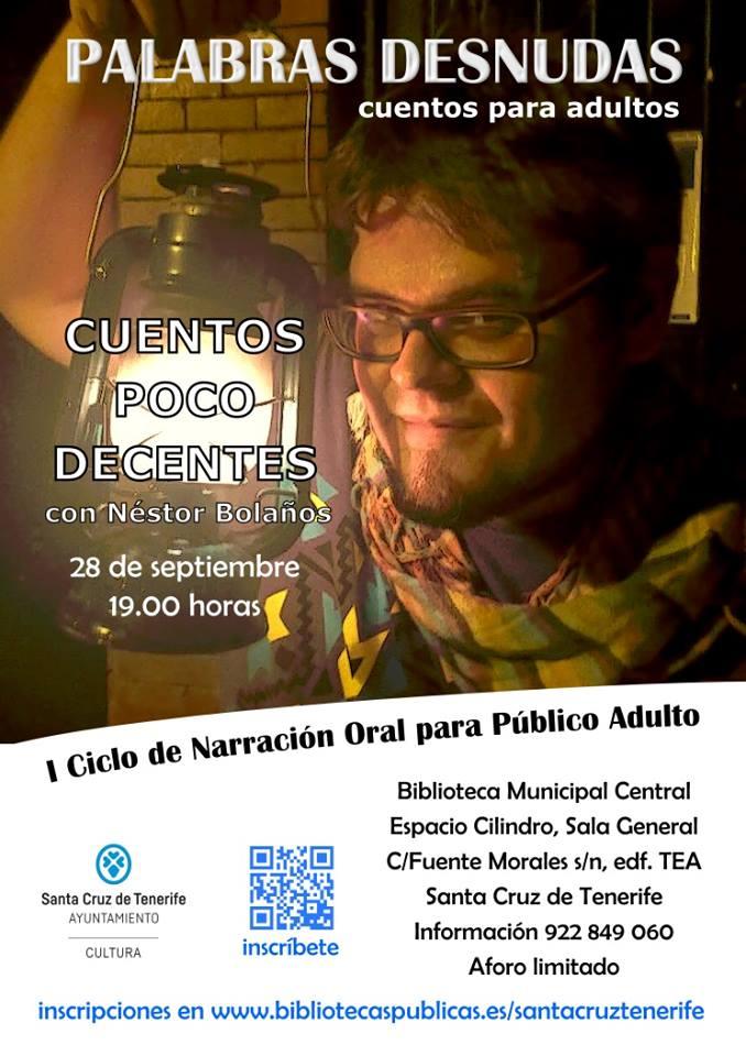 Cartel, 28 de septiembre a las 19:00h en el Cilindro del TEA, en Santa Cruz de Tenerife