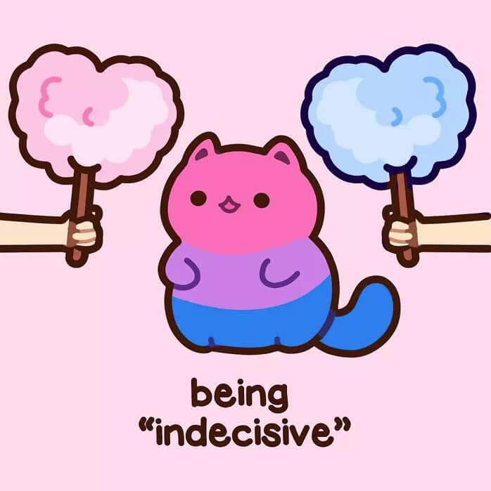 Cute Kitten Illustrations Are Combating Bisexual Misconceptions