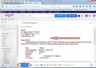 contoh cara membuat surat lamaran kerja via yahoo mail