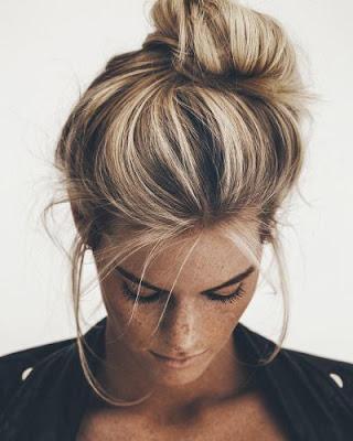peinados recogido casual