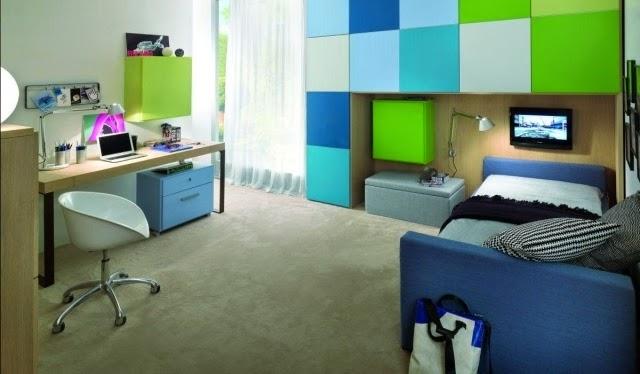 Dormitorios juveniles modernos colores en casa - Habitacion juvenil azul ...