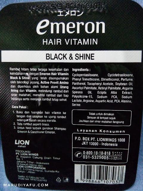 Emeron Hair Vitamin Black & Shine