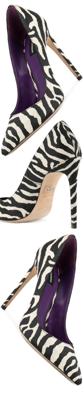 DSQUARED2 Zebra Print Pumps