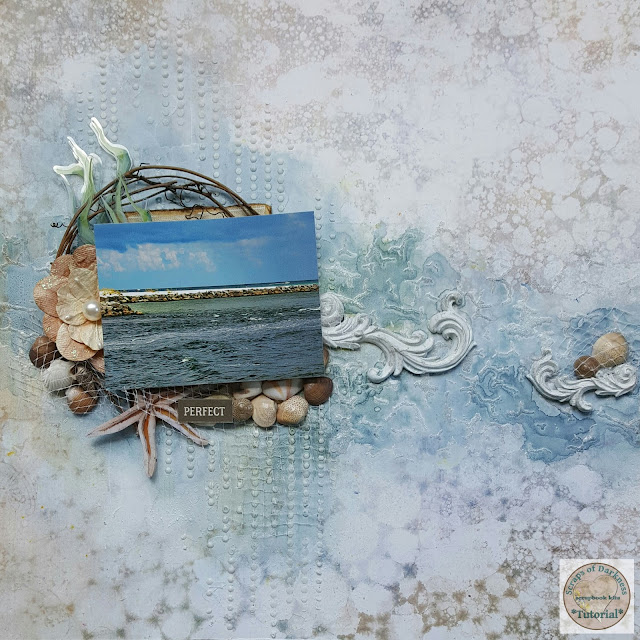 Scraps of Darkness Mixed Media Ocean Video Tutorial