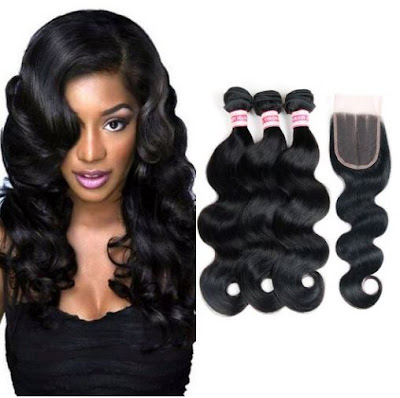 Lace Closure + Peruvian Virgin Wavy Hair by Fabeauty