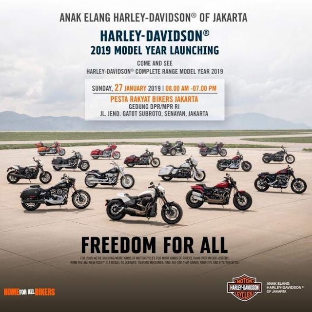 Pesta Rakyat Biker Anak Elang Harley Davidson Jakarta 2019