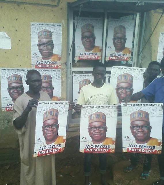 Ekiti State Gov. Fayose's Presidential Campaign Posters Hits Kaduna State(Photos)