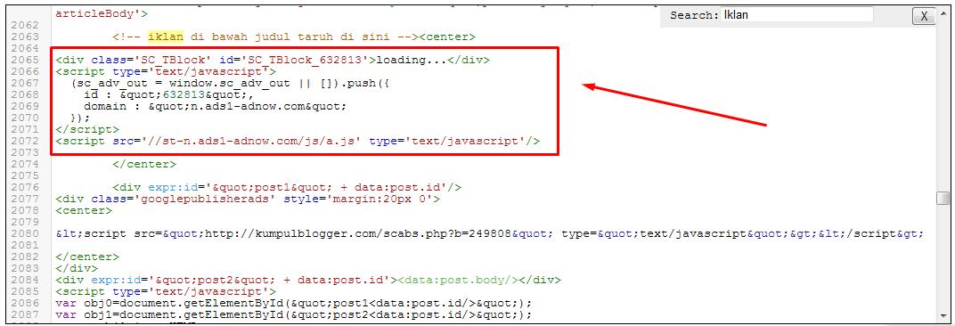 Cara Pasang Kode Iklan Adnow Di Bawah Judul Postingan Di Template Brosense V2