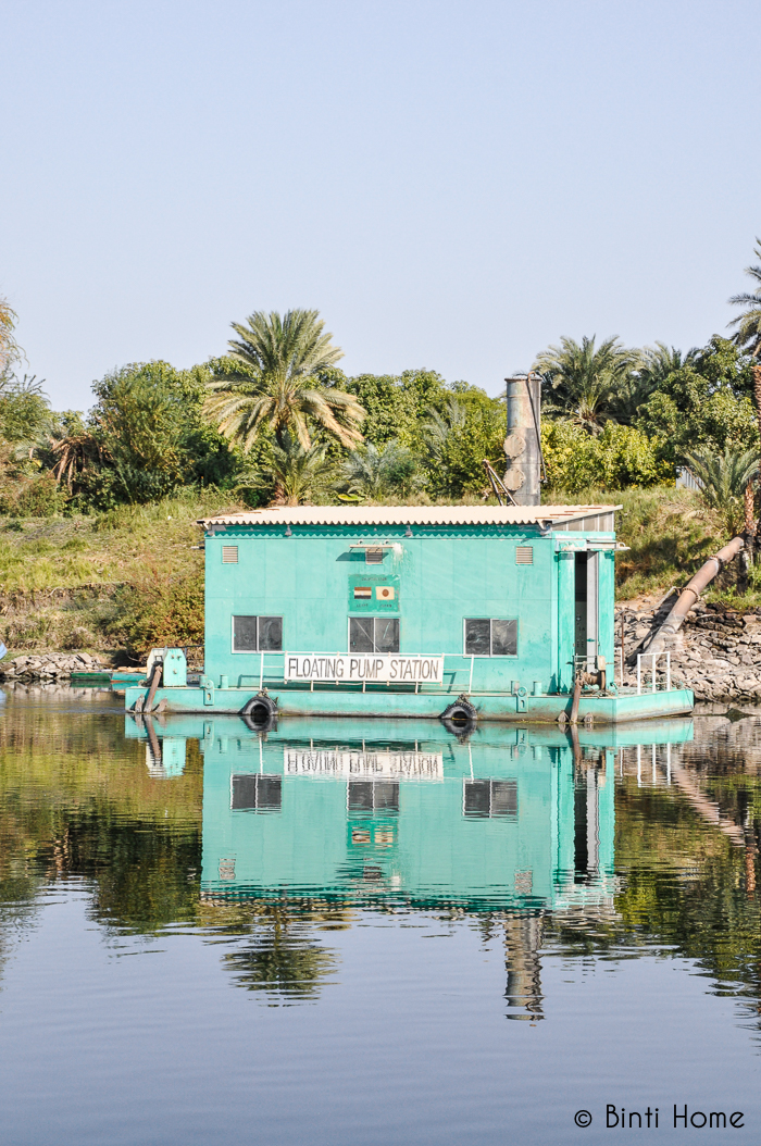 Floating pump station Nile Egypt - Binti Home