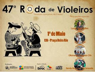 Lucas Guimarães será uma das atrações da 47ª Roda de Violeiros