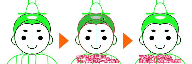 男雛の髪の描き方02