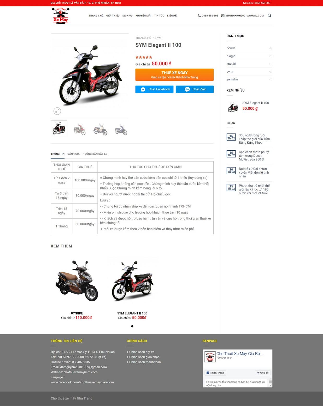 Theme blogspot dịch vụ cho thuê xe máy chuẩn seo - Ảnh 2