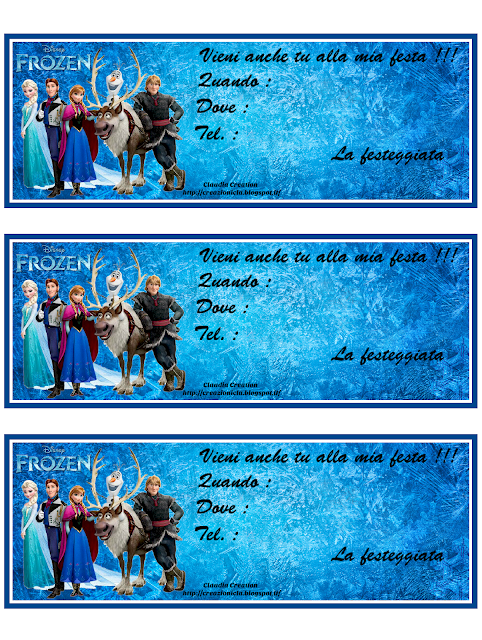Inviti festa Frozen