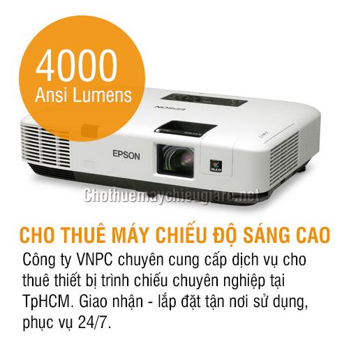 Cho thuê máy chiếu độ sáng 4000 Ansi Lumens tại TpHCM