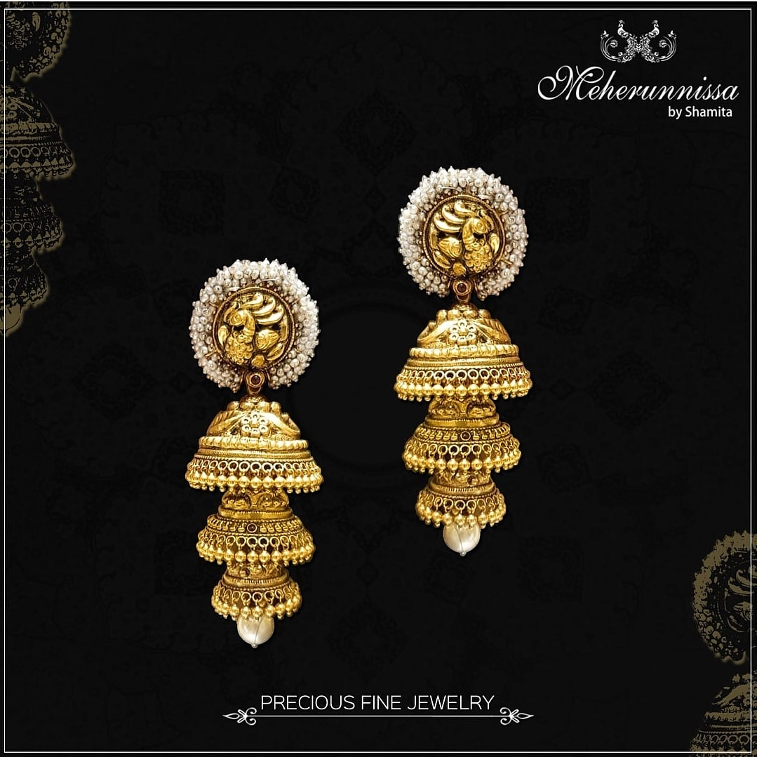 simple gold earrings designs with price