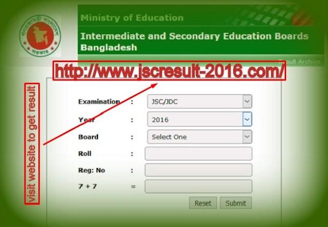 JSC Result 2016 - Educationboad Results BD Official