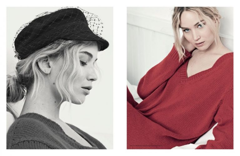 Jennifer Lawrence wears chic spring designs for Dior Magazine