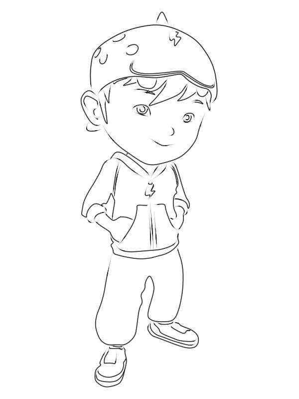 Cara Menggambar BoBoiBoy  9KomiK