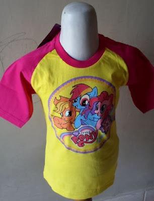 Kaos Raglan Anak Karakter My Little Pony 1 Kuning